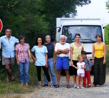 Venerque. Le collectif de défense du Pech s'oppose aux sondages du sol, 7/08/2012 photo1